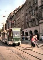 417/165400/tw-417-auf-der-alten-linie Tw 417 auf der alten Linie 6 in der Bahnhofstrasse